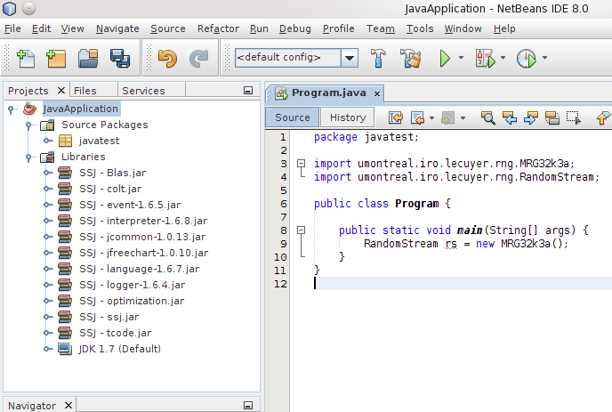SSJ: Installation instructions for NetBeans